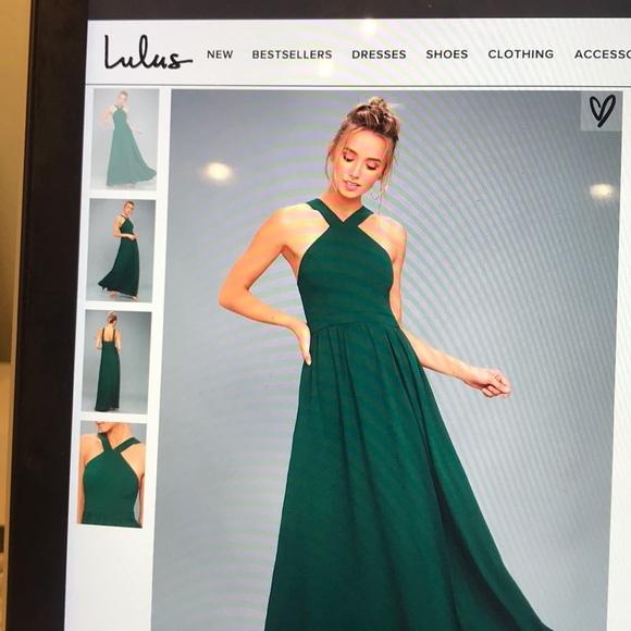 Dresses | Lulus Forest Green Promevening Gown | Poshmark